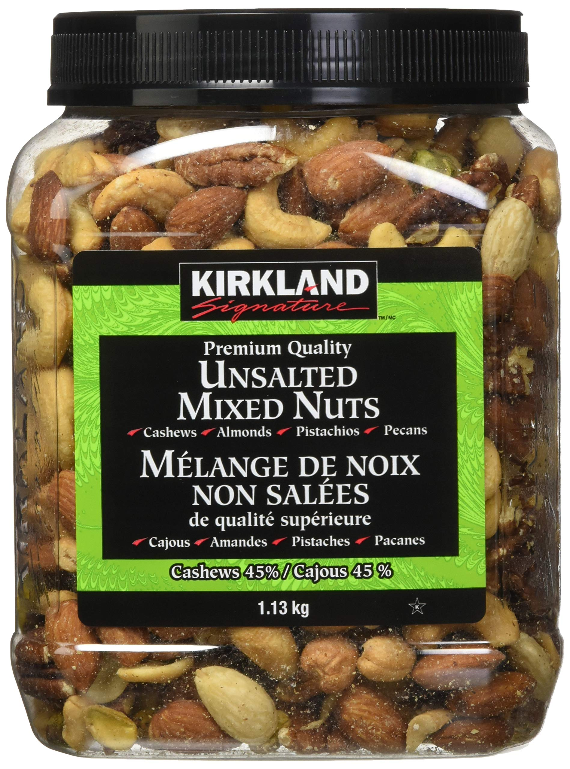 Kirkland Signature Extra Fancy Unsalted Mixed Nuts 2.5 (LB) by Kirkland Signature