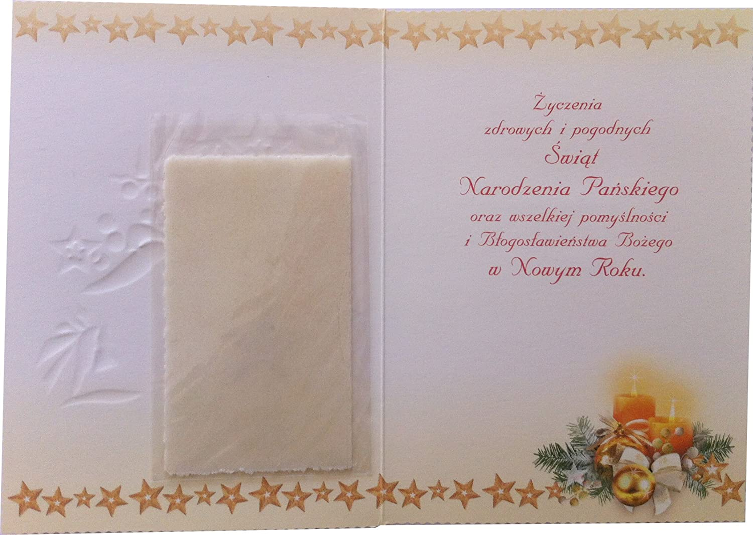 Amazon.com : Religious Polish Christmas Greeting Cards with Wafers ...