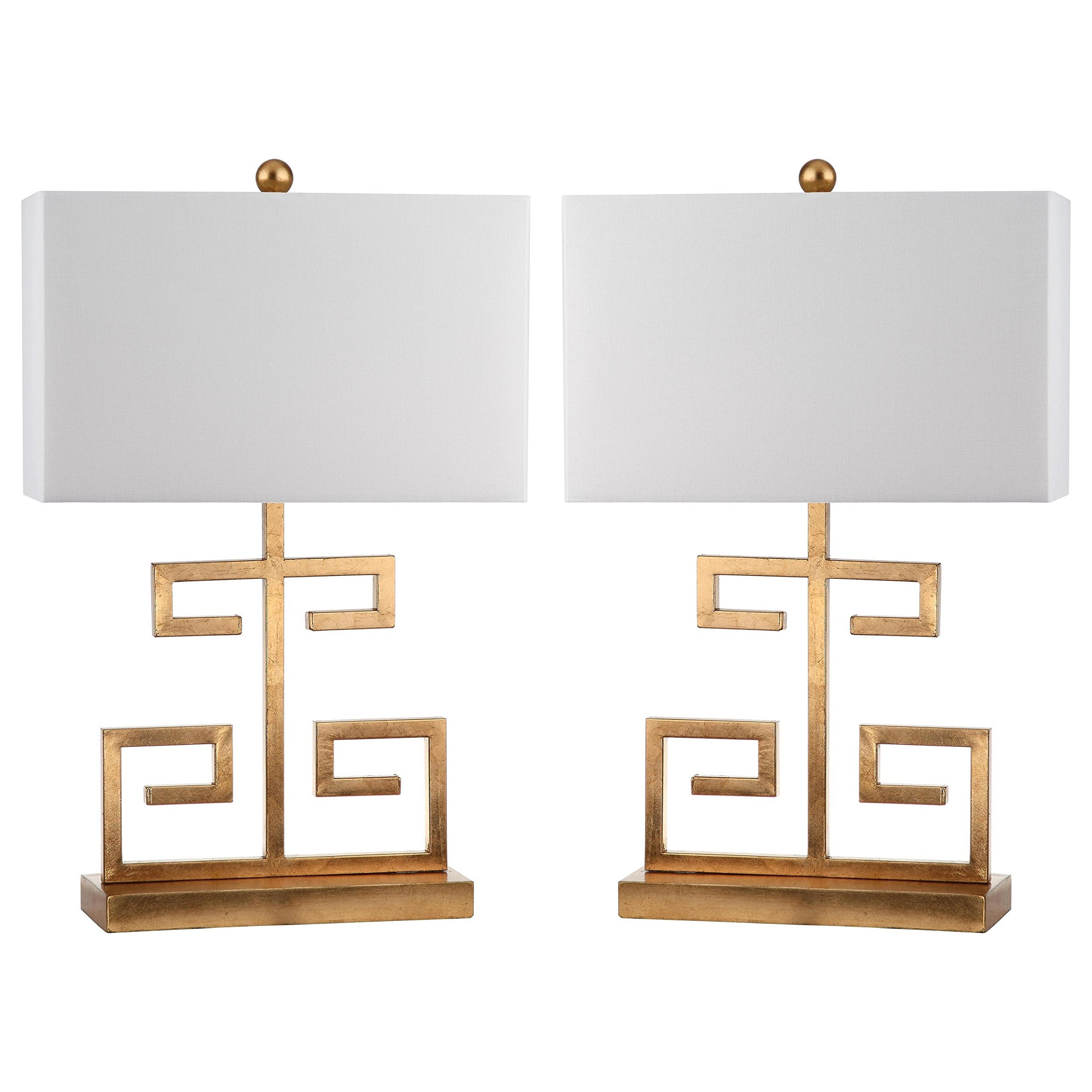 Safavieh Lighting Collection Greek Key Gold 24-inch Table Lamp (Set of 2)