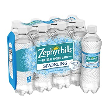 Zephyrhills Brand Sparkling Natural Spring Water Simply Bubbles 16 9 Ounce Plastic Bottle