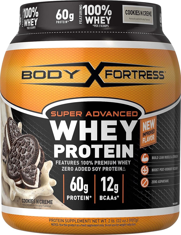 Body Fortress Super Advanced Whey Protein Powder, Vanilla, 2 Pound
