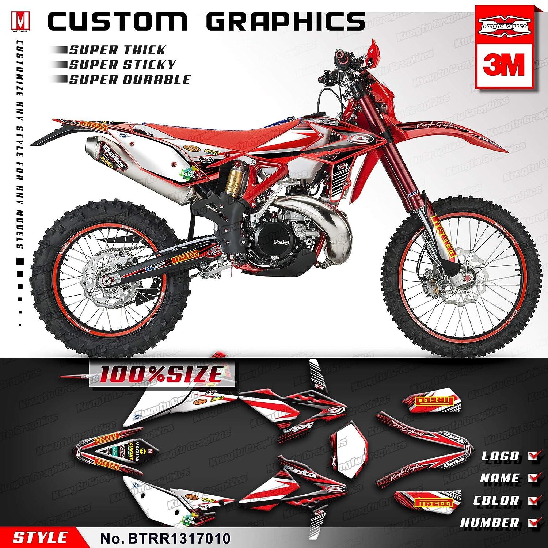 Red Blue White Kungfu Graphics Custom Decal Kit for Beta 250 300 350 390 430 480 RR 2014 2015 2016 2017