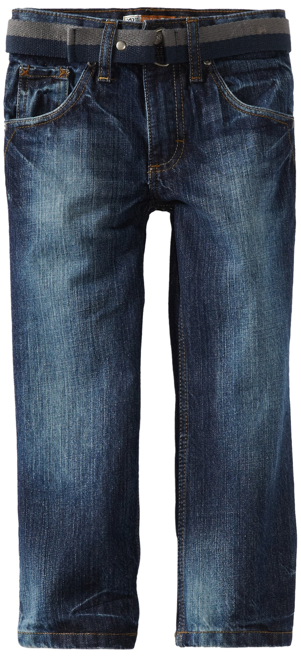 LEE Little Boys' Dungarees Relaxed Bootcut Jeans, Bayou, 5 Slim