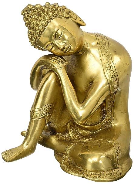 amazon com buddhist statue large brass buddha statue sleeping