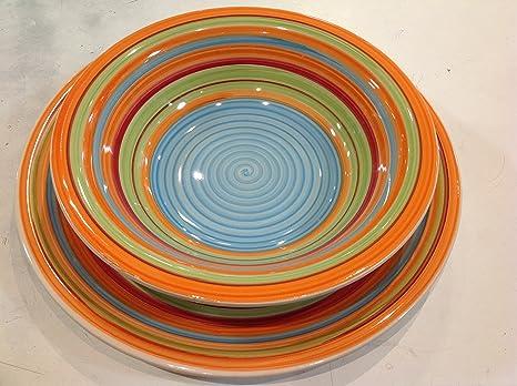 Servizio piatti 18pz. Colorato today home: Amazon.it: Casa e cucina