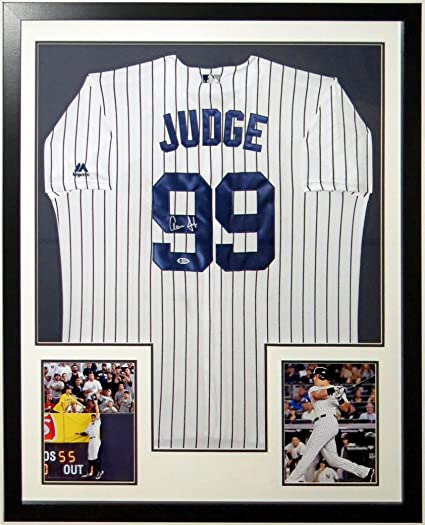 the latest 51f5d 0ee46 Aaron Judge Signed Majestic New York Yankees Jersey ...