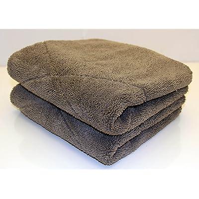 "UTowels' Ultra Plush Thick Microfiber Auto Detailing Towel - 15"" x 24"" - 560 GSM (2pcs, Gray): Automotive"