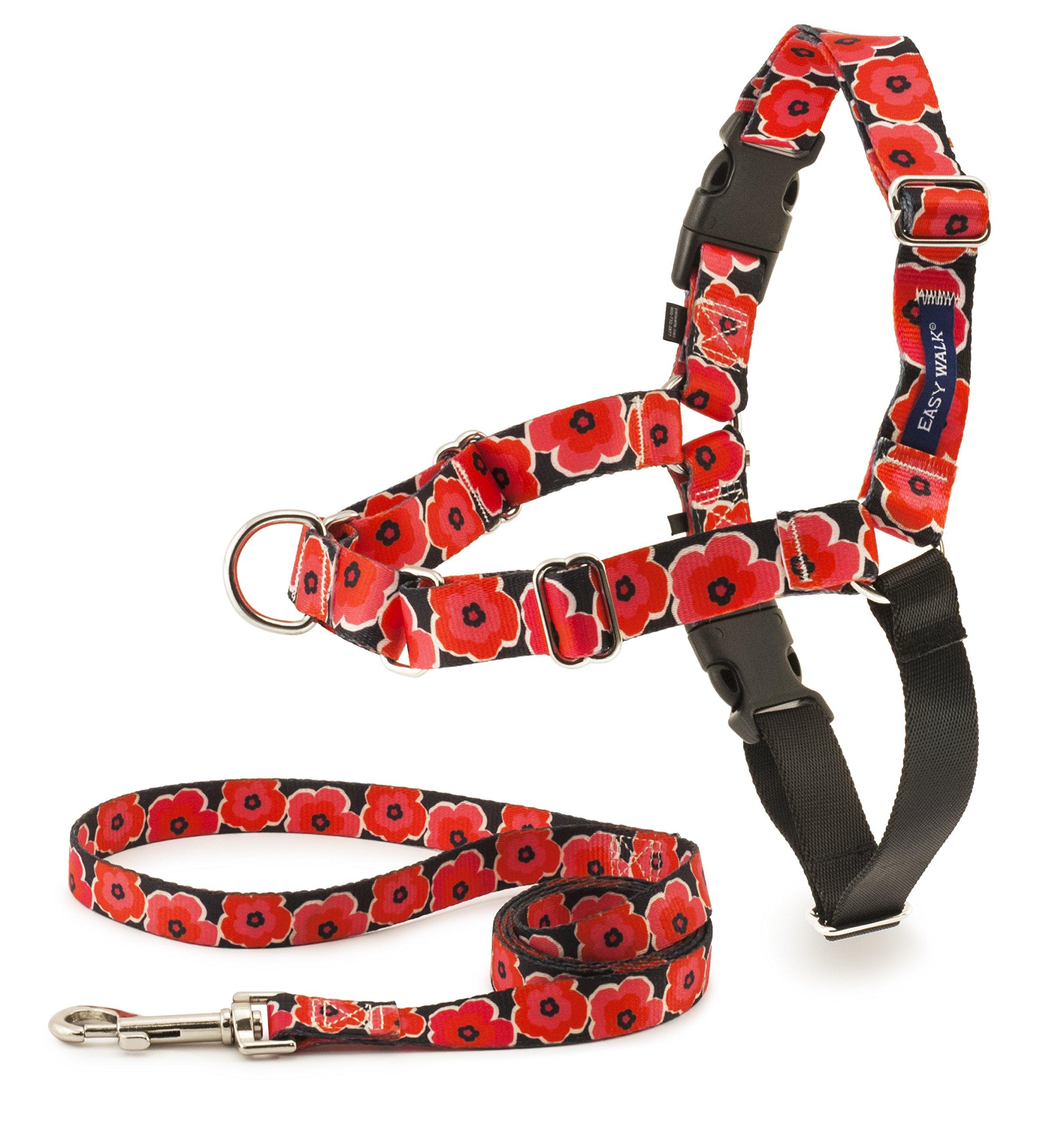 PetSafe EWH-C-HC-M-POP Easy Walk Chic Harness, Medium, Poppies