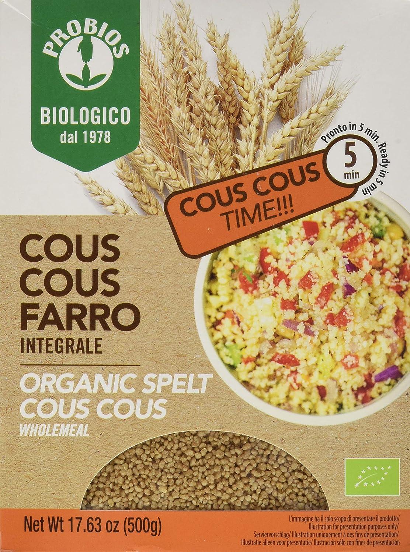 Probios Cous Cous Espelta Integral 500 gr: Amazon.es: Alimentación ...
