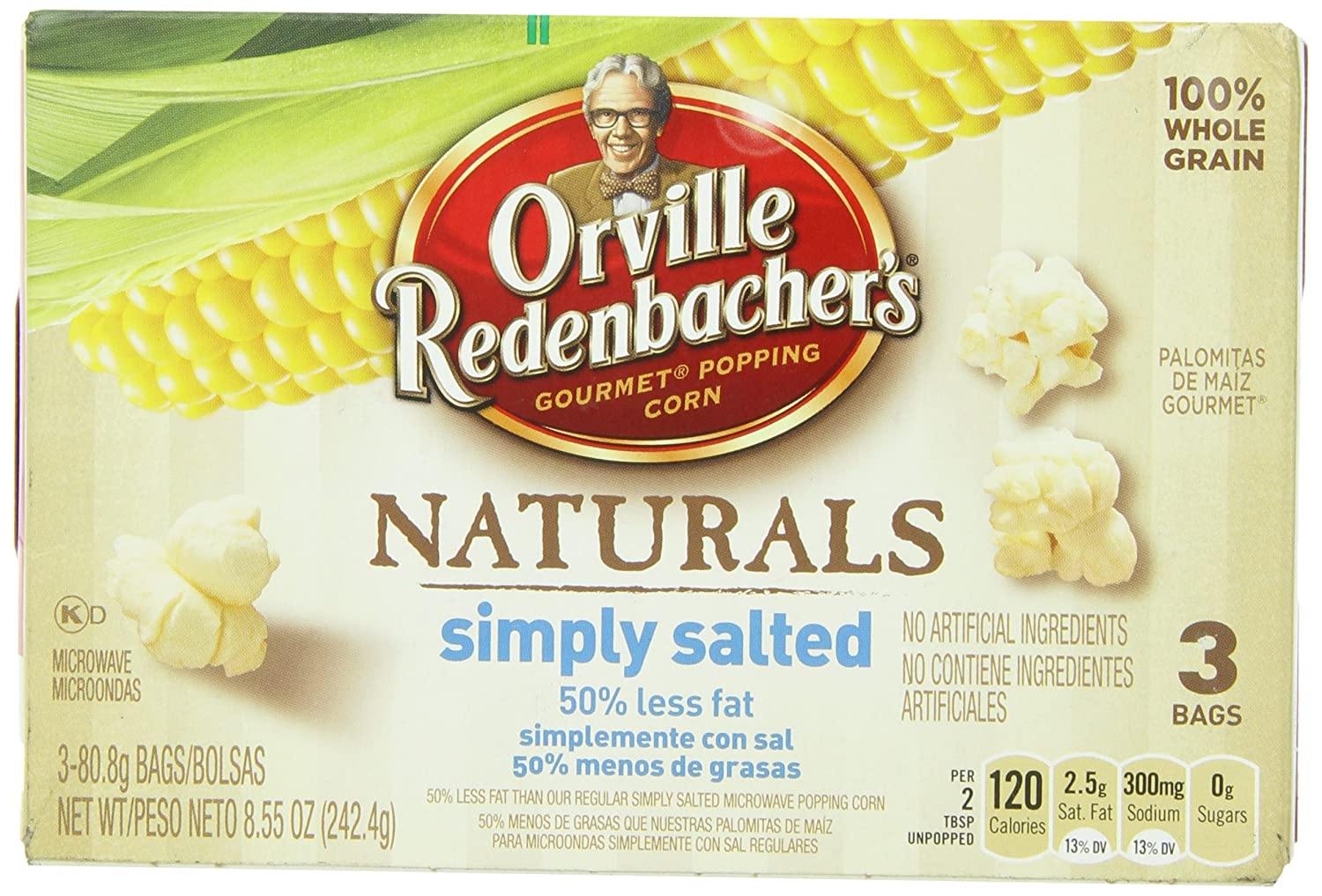 Amazon.com: Orville Redenbachers Natural Simply Salted 3 pk ...