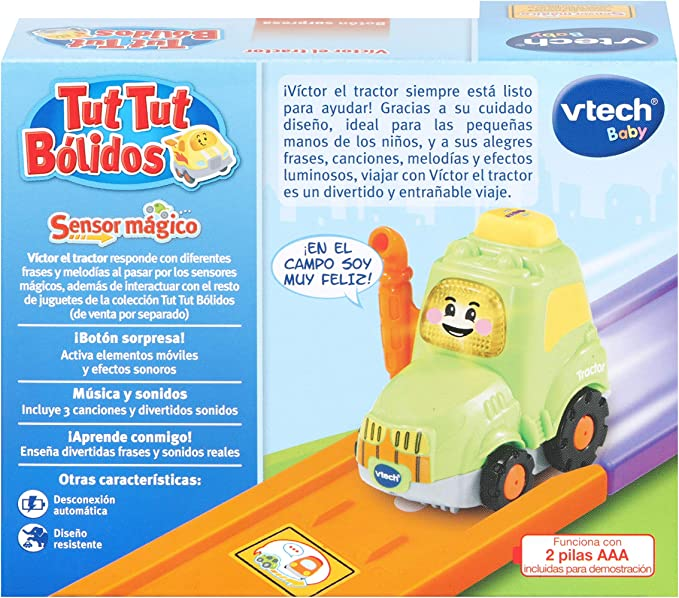 VTech 80-517322 Joseph TutTut Bolides Camion interactif avec Voix Musique et Effets sonores avec Bouton Surprise Multicolore
