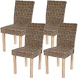 Set 4x sedie Littau Kubu rattan sala pranzo 56x43x89cm