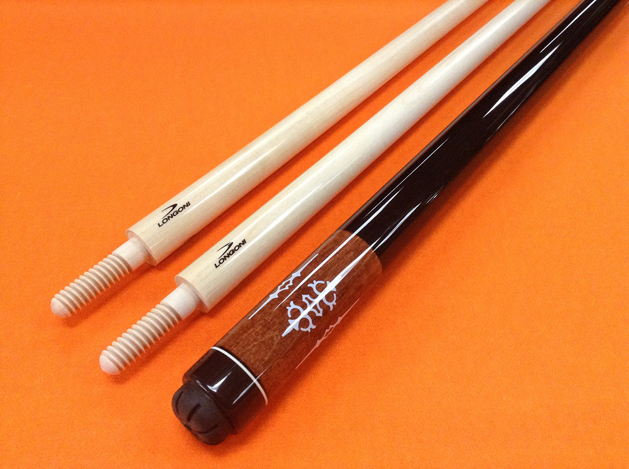 LONGONI CAROM CUE WITH 2 SHAFTS