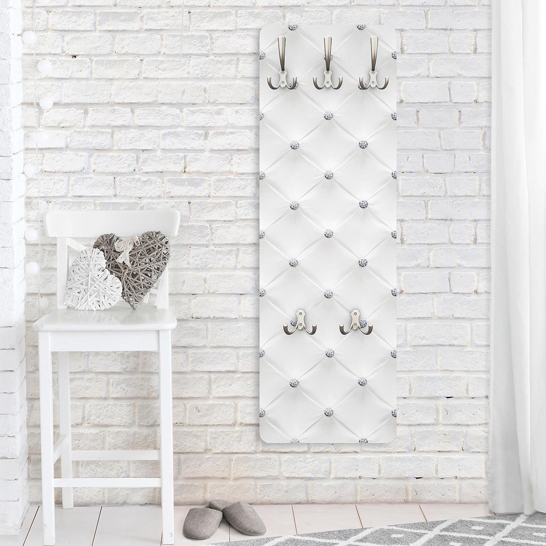 Appendiabiti da Muro Dimensione: 139cm x 46cm Appendiabiti da Parete Diamond White Luxury 139x46x2cm Bilderwelten Appendiabiti Appendiabiti a Muro Appendiabiti Design