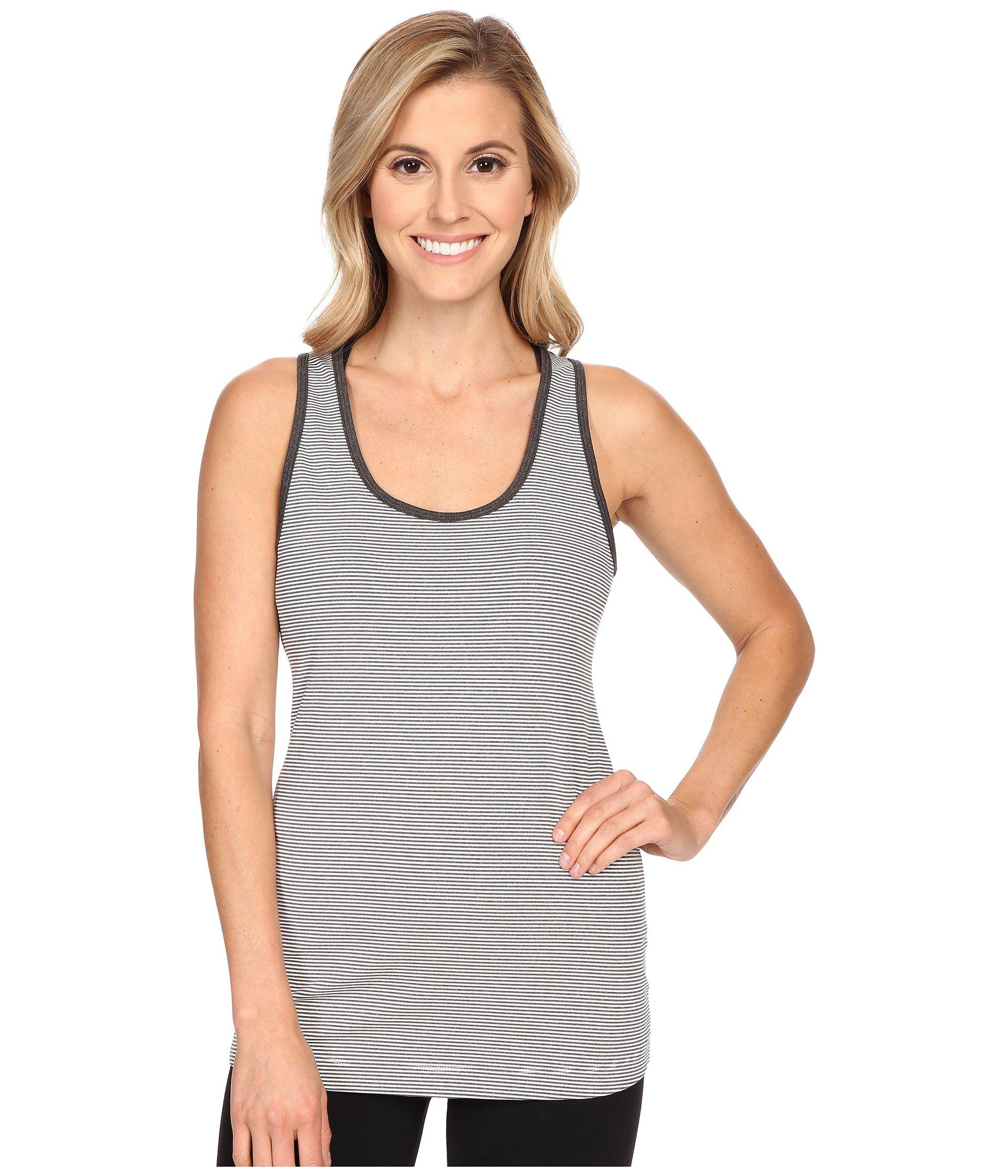Lole Women's Twist Tank Top, White Stripe, Medium
