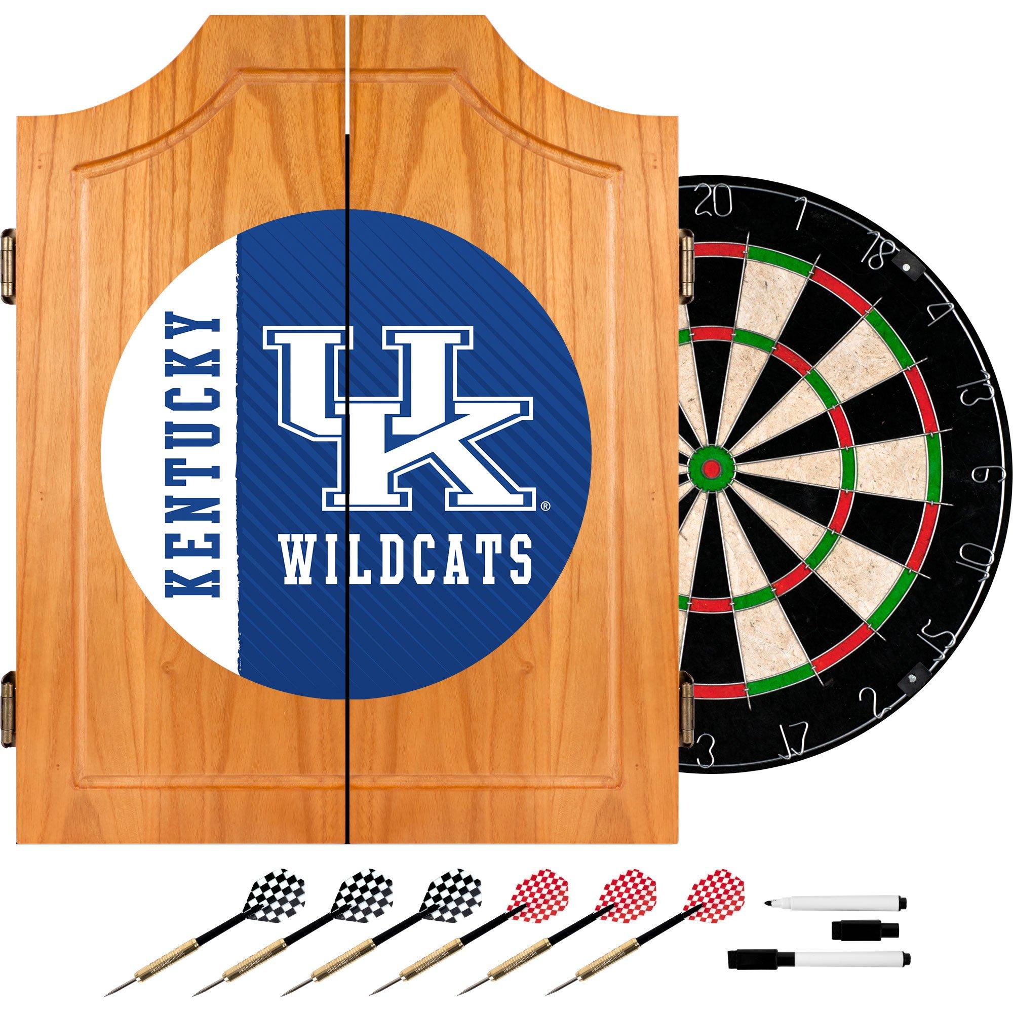 Trademark Gameroom University of Kentucky Wood Dart Cabinet Set - Text