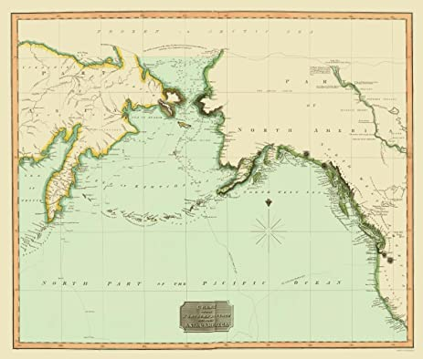 Amazon old world map northwest passage between asia and old world map northwest passage between asia and america 1816 23 x 27 gumiabroncs Image collections