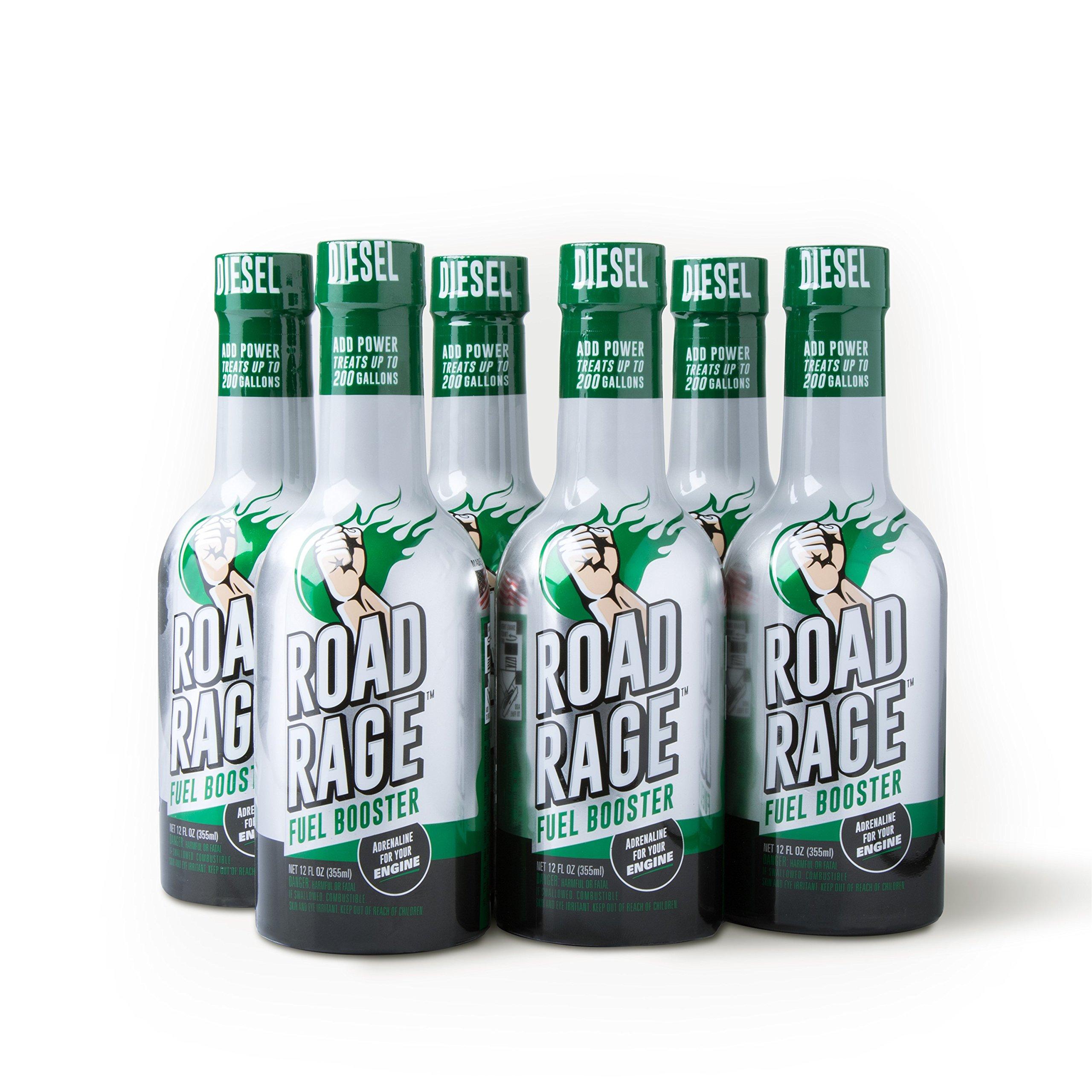 Road Rage Diesel Fuel Booster - (Six 12oz Bottle Case Pack) by Road Rage