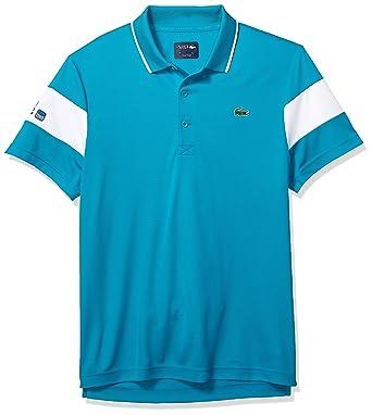 da12b0e6 Lacoste Men's Sport Miami Open Edition Bands Technical Piqué Polo at Amazon Men's  Clothing store: