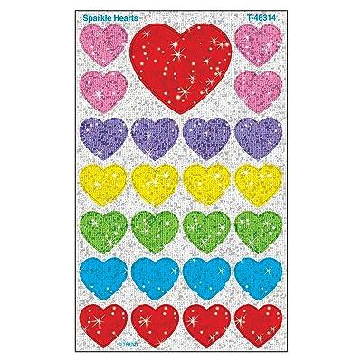 Trend Enterprises Inc. Sparkle Hearts superShapes Stickers-Sparkle, 100 ct: Toys & Games