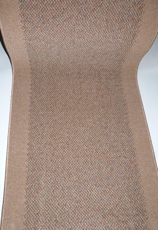 Teppich Läufer auf Maß rutschfest Stufenmatten Beige lfm. 29,90 Euro Breite 100 x 280 cm