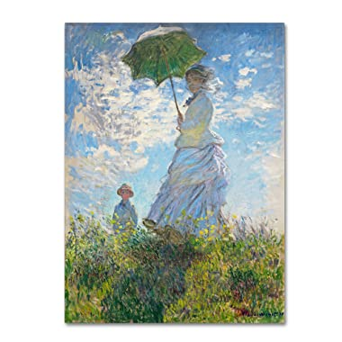 Woman with a Parasol 1875 Artwork by Claude Monet, 35 by 47-Inch Canvas Wall Art