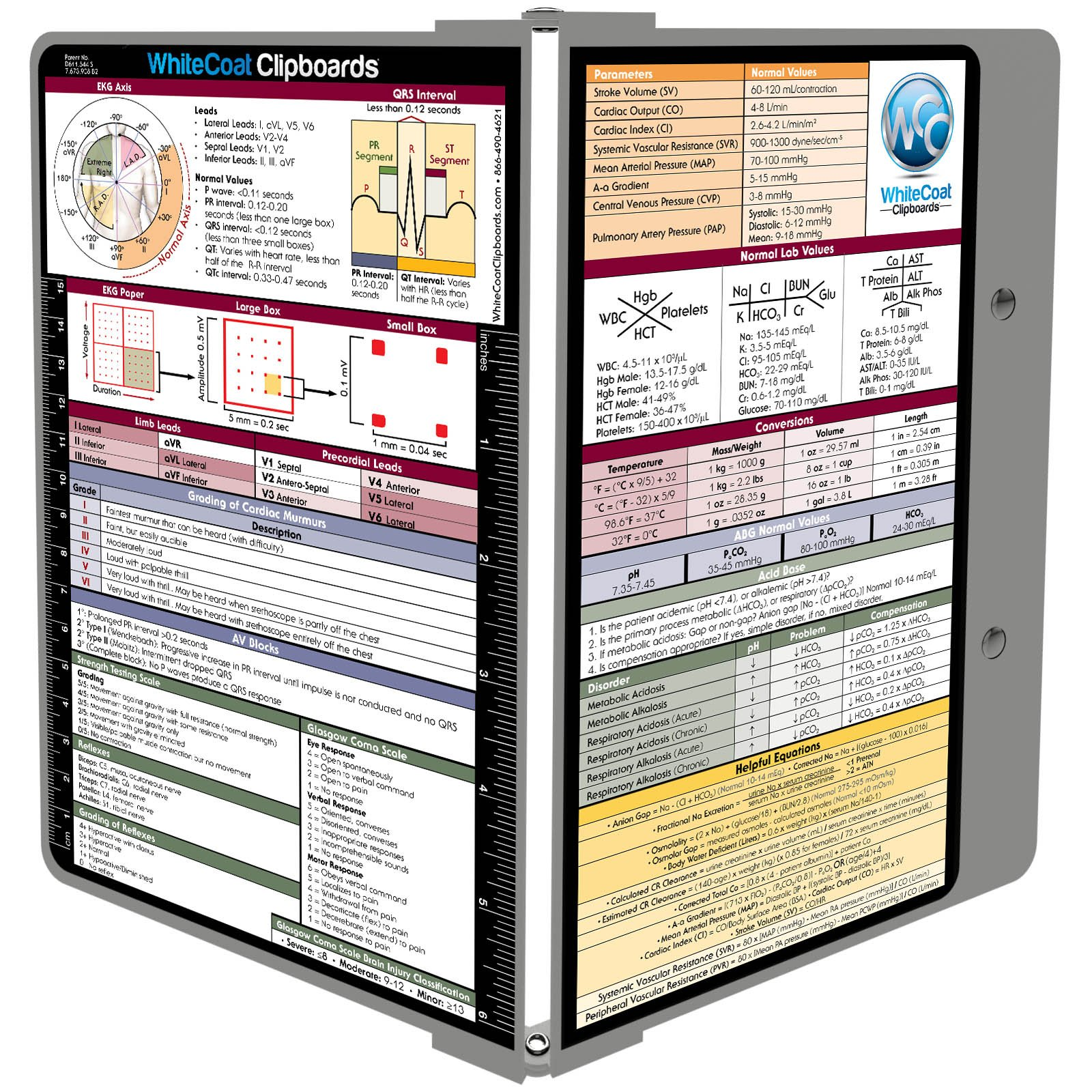 WhiteCoat Clipboard – Sports Silver Medical Edition