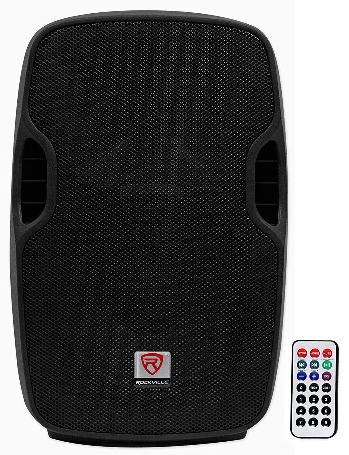 Rockville BPA10 10-Inch Professional Powered Active 500w DJ PA Speaker with Bluetooth Audiosavings