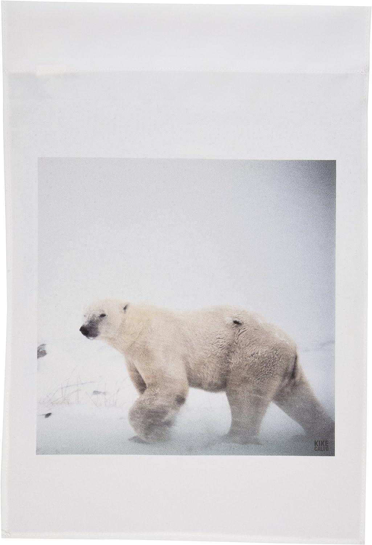 3dRose fl_10724_1 Polar Bear Garden Flag, 12 by 18-Inch