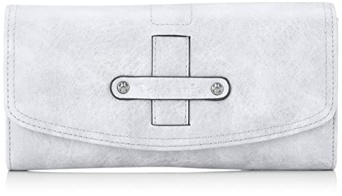 Tamaris - Bernadette Big Wallet With Flap, Carteras Mujer, Gris (Light Grey)
