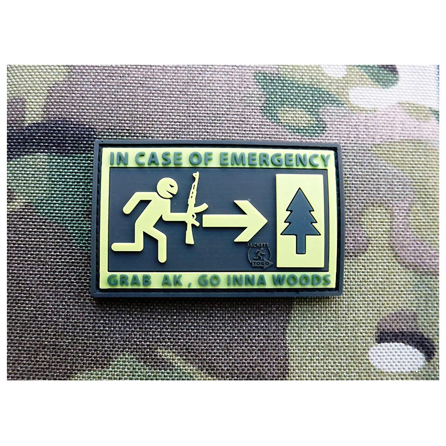 fullcolor 3D Rubber Patch Emergency Patch Jackets To Go JTG