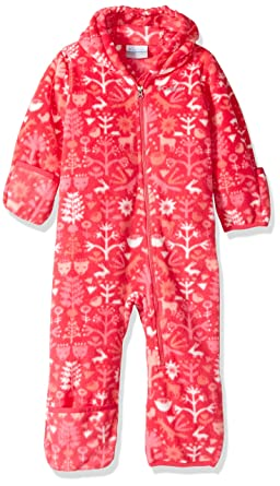 Columbia Baby Boys' Snowtop II Bunting, Punch Pink Critters, 0-3 Months