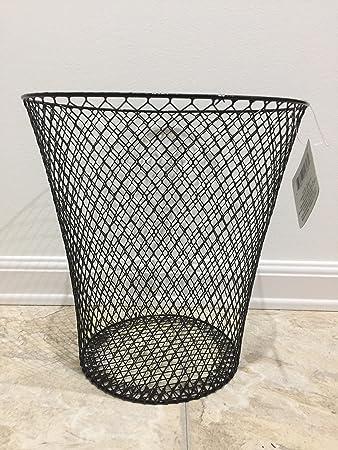 Amazon.com: Black Wire Mesh Waste Basket: Home & Kitchen