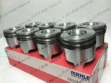 Ford 7,3 7.3L Diesel pistones + .020 Oversize Calibre w/anillos 95 - 03 Mahle clevite Juego de 8: Amazon.es: Coche y moto
