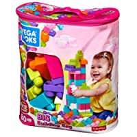 Mega Bloks Big Building Bag 80-Piece - Pink