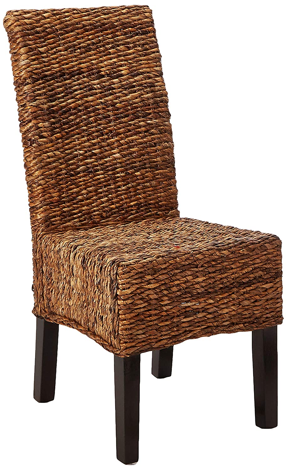 Safavieh Home Collection Avita Natural Wicker 18-inch Dining Chair Set of 2