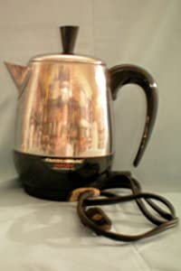 """Farberware Superfast Fully Automatic Electric Percolator with Cord [coffee pot] -- Model 142B approx 12"""" tall"""