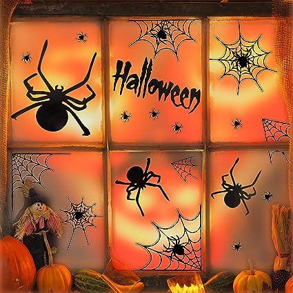 Spiders Vinyl Decal Wall Sticker Fall Halloween Decor Window Mirror Wall Art