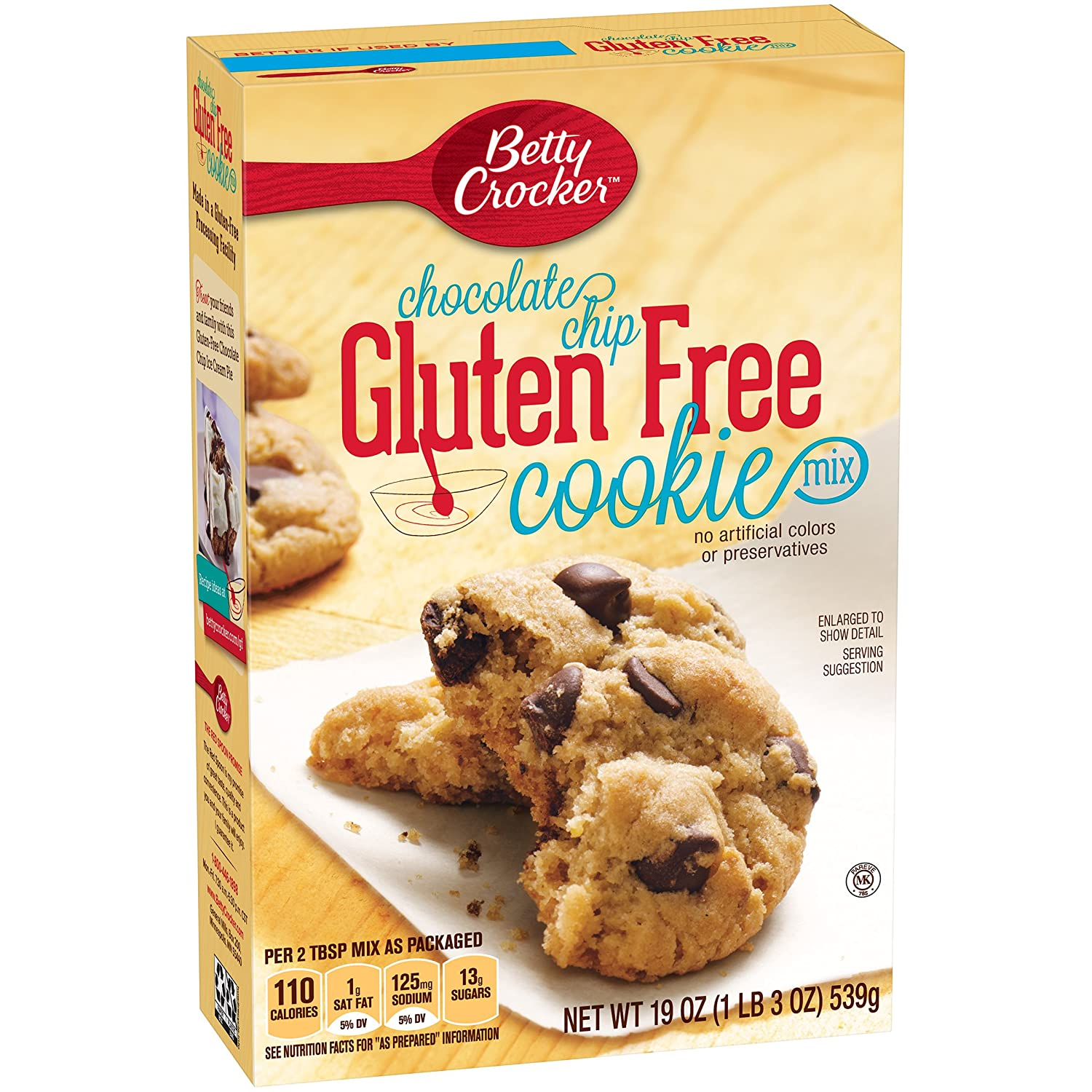 Amazon Betty Crocker Baking Mix Gluten Free Cookie Chocolate Chip 19 Oz Box Pack Of 6 Grocery Gourmet Food