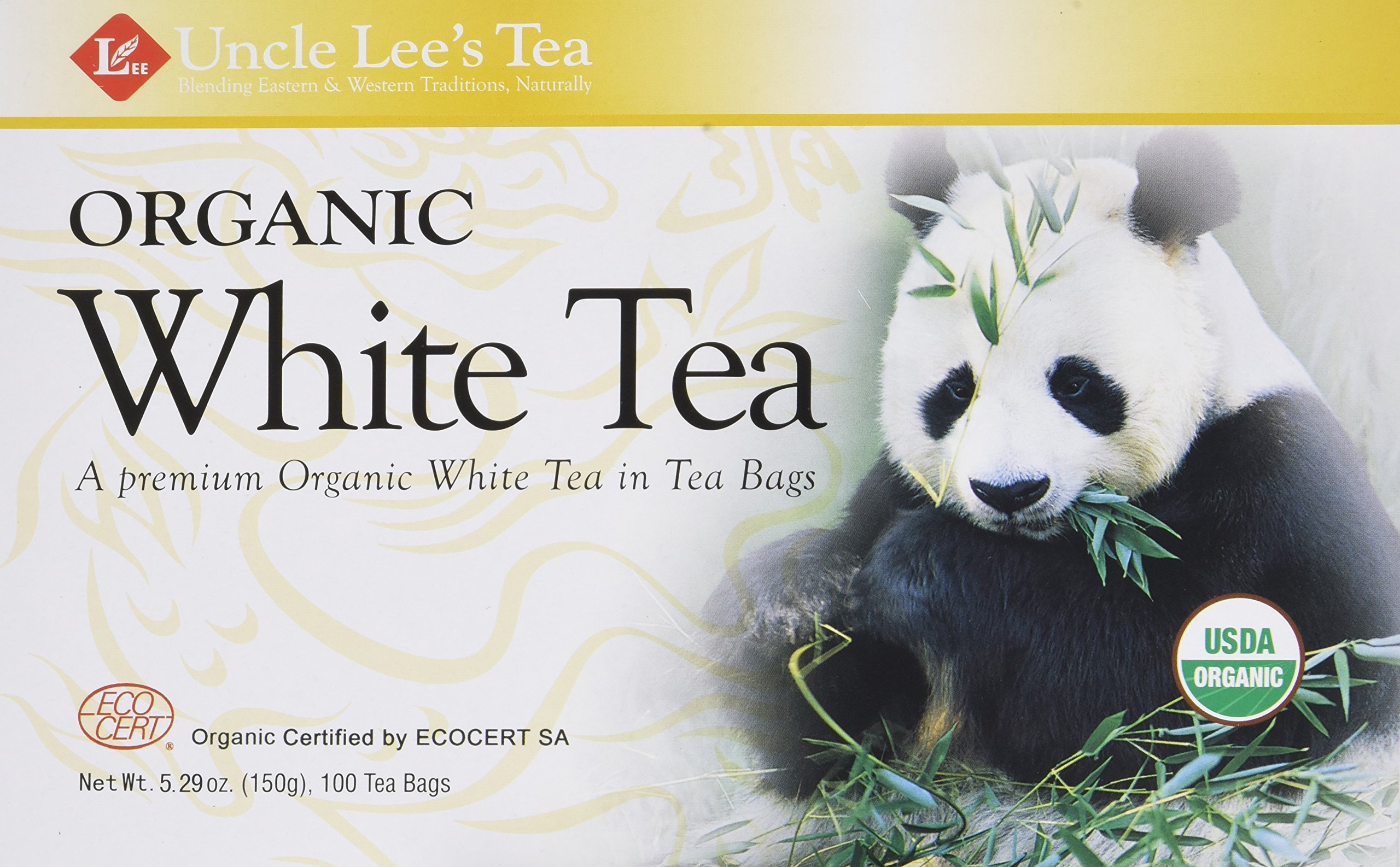 Legends of China Organic White Tea 100 Bags (Pack of 2) by Uncle Lee's Tea