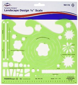 Amazon.com : Alvin Professional Landscape Design Template (TD1178 ...