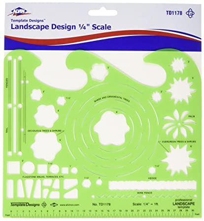 amazon com alvin professional landscape design template td1178
