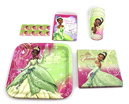 Disneyu0027s Princess Tiana Party Set for 8  sc 1 st  Amazon.com & Amazon.com: Disneyu0027s Princess Tiana Party Set for 8: Toys u0026 Games
