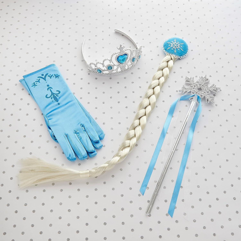 Frozen Princesa Elsa juego de accesorios de Tiara guantes copo de ...