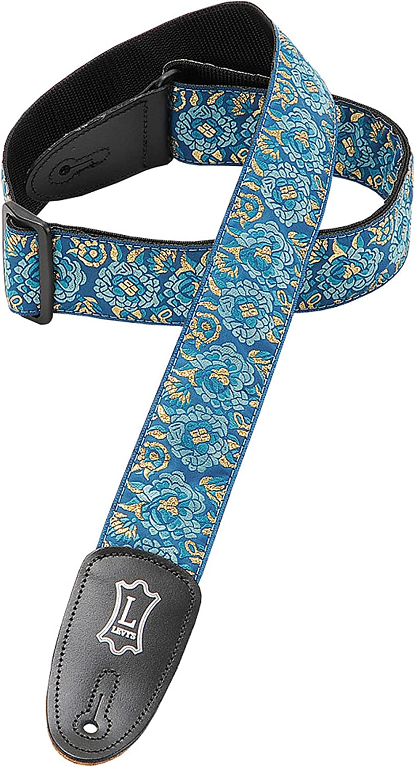 Red Levys Leathers M8as-red Asian Print Jacquard Guitar Strap