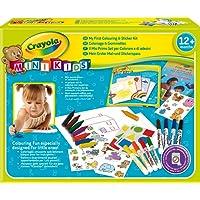 Crayola Mini Kids - 10570 - Kit de Loisir Créatif - coloriage et gommettes