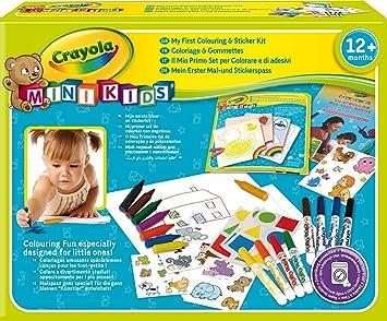 Kit Coloriage Fille.Crayola Mini Kids 10570 Kit De Loisir Creatif Coloriage Et