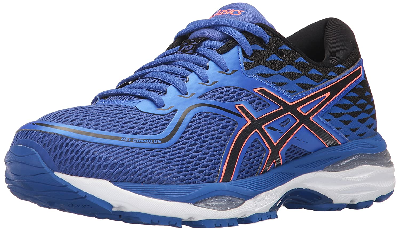 bluee Purple Black Flash Coral ASICS Women's Gel-Cumulus 19 Running-shoes