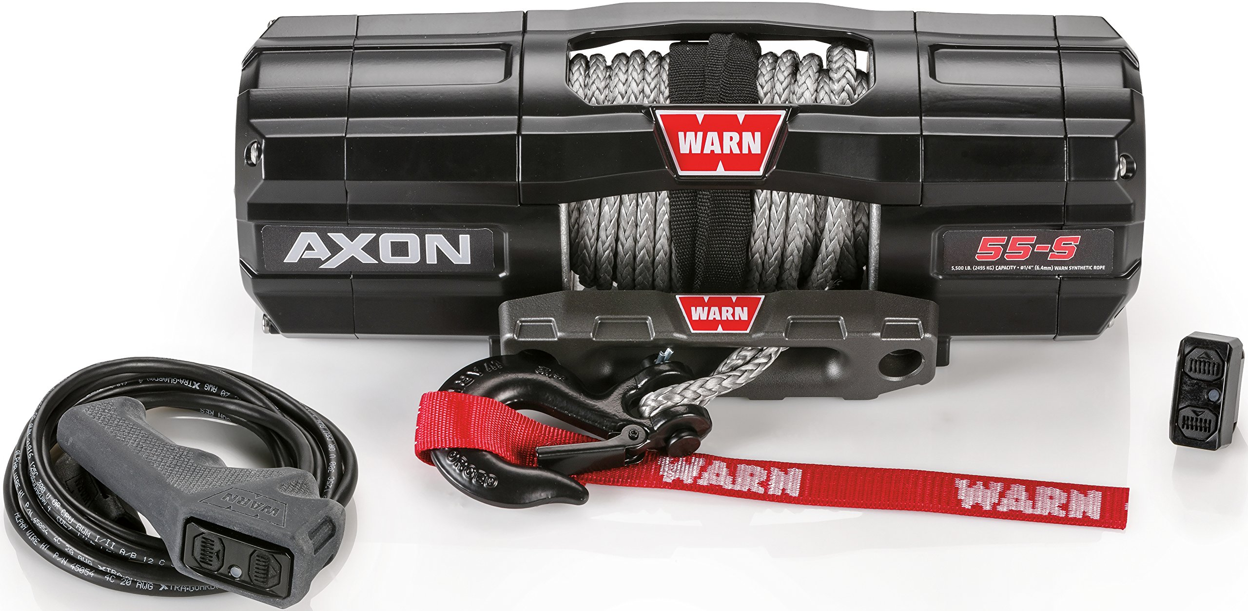 WARN 101150 AXON 55-S Powersports Winch With Spydura Synthetic Rope by WARN
