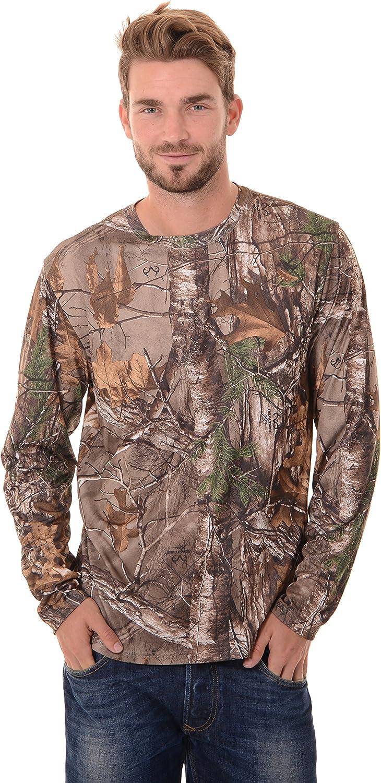Realtree Mens Long Sleeve Performance T-Shirt